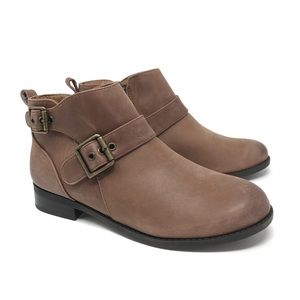 New Vionic Country Logan Ankle Booties Brown 6.5